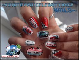 Toyota Pro Celebrity Race of Long Beach nails by Ninails