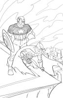 Cap and Bats on Patrol WIP by randomality85