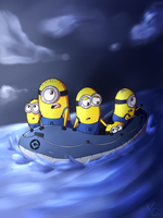 Minions in danger by VanessaGiratina