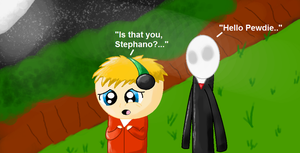 'Stephano, Is that you..?'- Pewdiepie [Speedpaint] by Dragonsong3