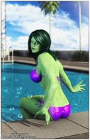 She Hulk Time Off by tiangtam
