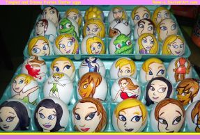 Disney's Tangled and Fairies Easter Eggs by Rene-L