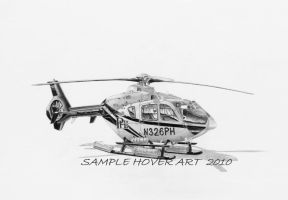 EC-135 Helicopter Aviation Art by hover-art