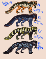 SALAMAT ADOPTABLES AUCTION BATCH #1 [RE-OPENING] by Levialyn