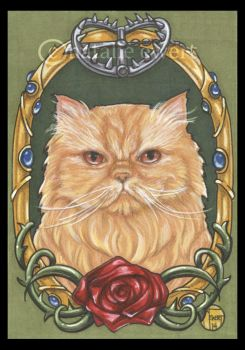 Rosie the Cat Framed Portrait Series 6 of 9 by natamon