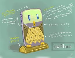 Owltober 23 OwlPhone by killintyme
