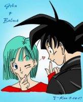 Bulma and Goku by elitedragongoku