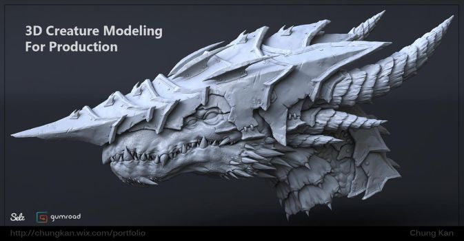 3D Creature Modeling for Production Tutorial by ChungKan3D