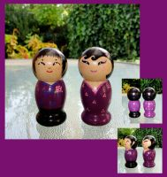 Kokeshi: Mrs. and Mr. Fioletto by broom-rider