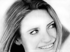 Anna Torv Charcoal Portrait by elvensage