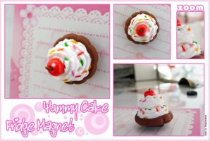 Yummy Cake Fridge Magnet by ichigocreations