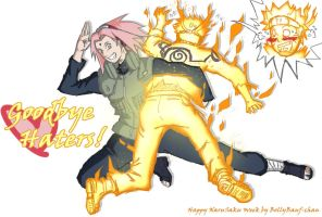 Goodbye Haters!   -NaruSaku September Week- by Bollybauf-chan