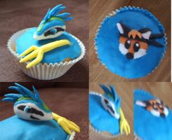 Fondant Amnis and Kung Fox by The-fox-of-wonders