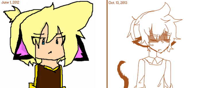 art redraws more like my old style was horrid by AskLenKagamine02