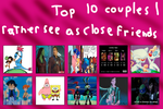 Top 10 Couples I Like Better as Just Close Friends by KessieLou