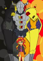 Digimon X EQG: Sunset Shimmer by Omnimon1996