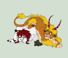 AT: Kumo and Dominic by Clawshawt