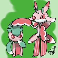 Pokemon - Fomantis and Lurantis