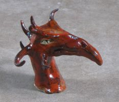 Red Dragon head by Observer14
