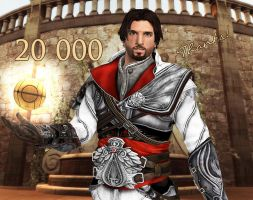 Ezio Auditore - 20,000 Page Views by AlienFodder
