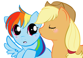 Appledash: Pony Kiss by lulubellct