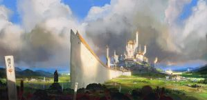 Countryside castle by Omuk