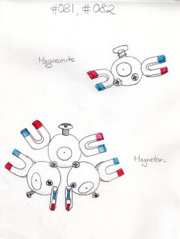 Magnemite + Magneton by mopsy747