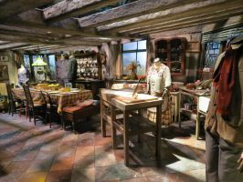 HARRY POTTER studio sets tour ,Weasley,s kitchen by Sceptre63