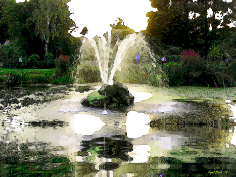 The Small Fountain at Fort Gardens - Gravesend by Nigel-Hirst
