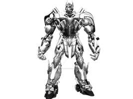 Optimus Prime Silver Knight by UncommonSlyFox