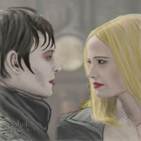 Barnabas and Anqelique: Eternal Enemies by Sketched-Nightmares