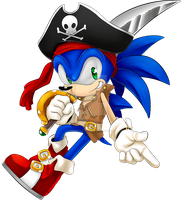 sonic pirate by isakySketch