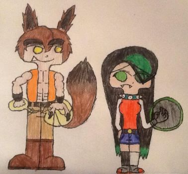 XS OCs Stephen Wolfe and Emerald Thorne by VampireLordBelmont