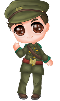 Irish Volunteer Chibi by OptimisticGlader