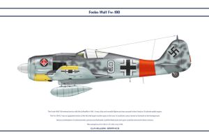 Fw190A7 JG1 1 by WS-Clave
