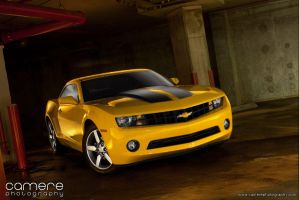 Yellow 2010 Camaro V6 by jcamere