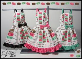Macarons BJD dresses with different flavours by cajsa
