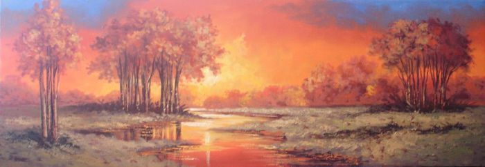 Lake Sunset by ValenciaArtCreations