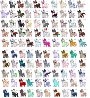 Batch of 100 Dog Adoptables (5 POINTS EACH) by lanternn