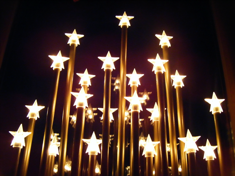 starry christmas sky by Lucy-Redgrave