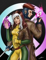 Rogue and Gambit by Abrem008