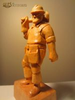 Engineer from Team Fortress 2 by alesthewoodcarver