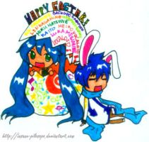 Chibi Vocaloid: Happy Easter by alybel