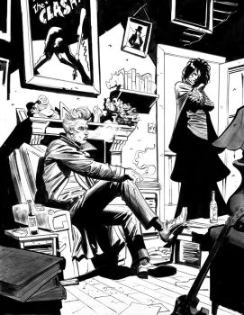 Sandman and Constantine by Stephen-Green