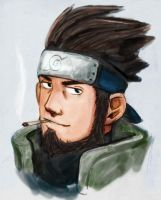 NARUTO - Asuma by Penbee-of-Treewood