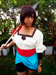 Ajna (Indivisible) Spear Fighter by MasayumeBERRY