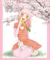 Spring Pink Bunny by Nullifie