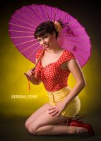Pink Parasol Red and Yellow by OfficialSerenaStar