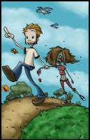 A Boy and His Zombie by MyDyingRose