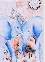 Elephants! by Phoenixartss